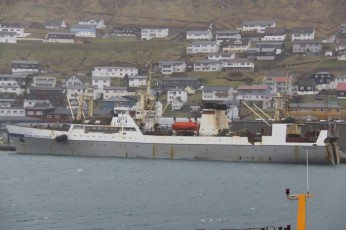 Havstreym til kai i Klaksvík. Foto: Dávur Winther