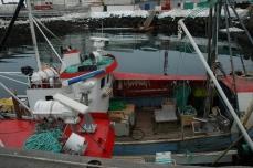 Fiskebåt i Nuuk Havn. Foto: Jógvan H. Gardar