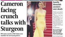 Forsiden på The Scotsman fredag 15. mai 2015